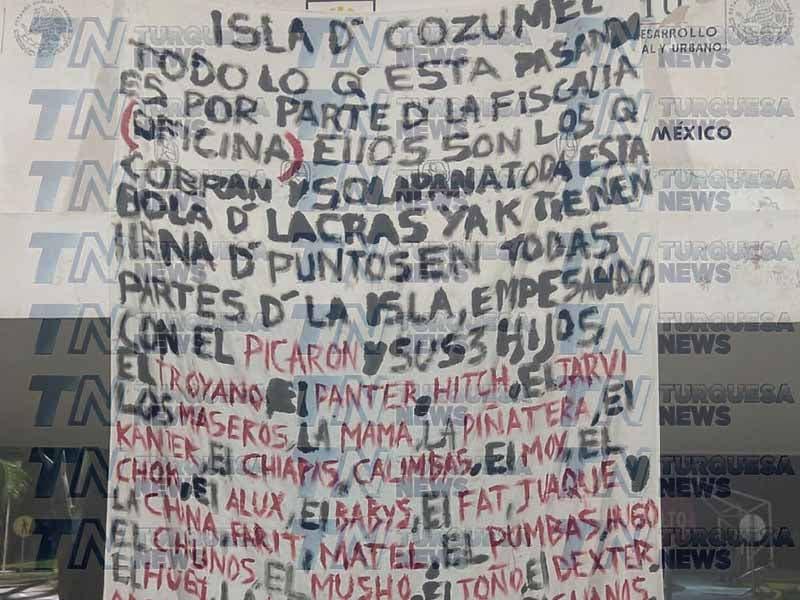 Narcomanta en Cozumel