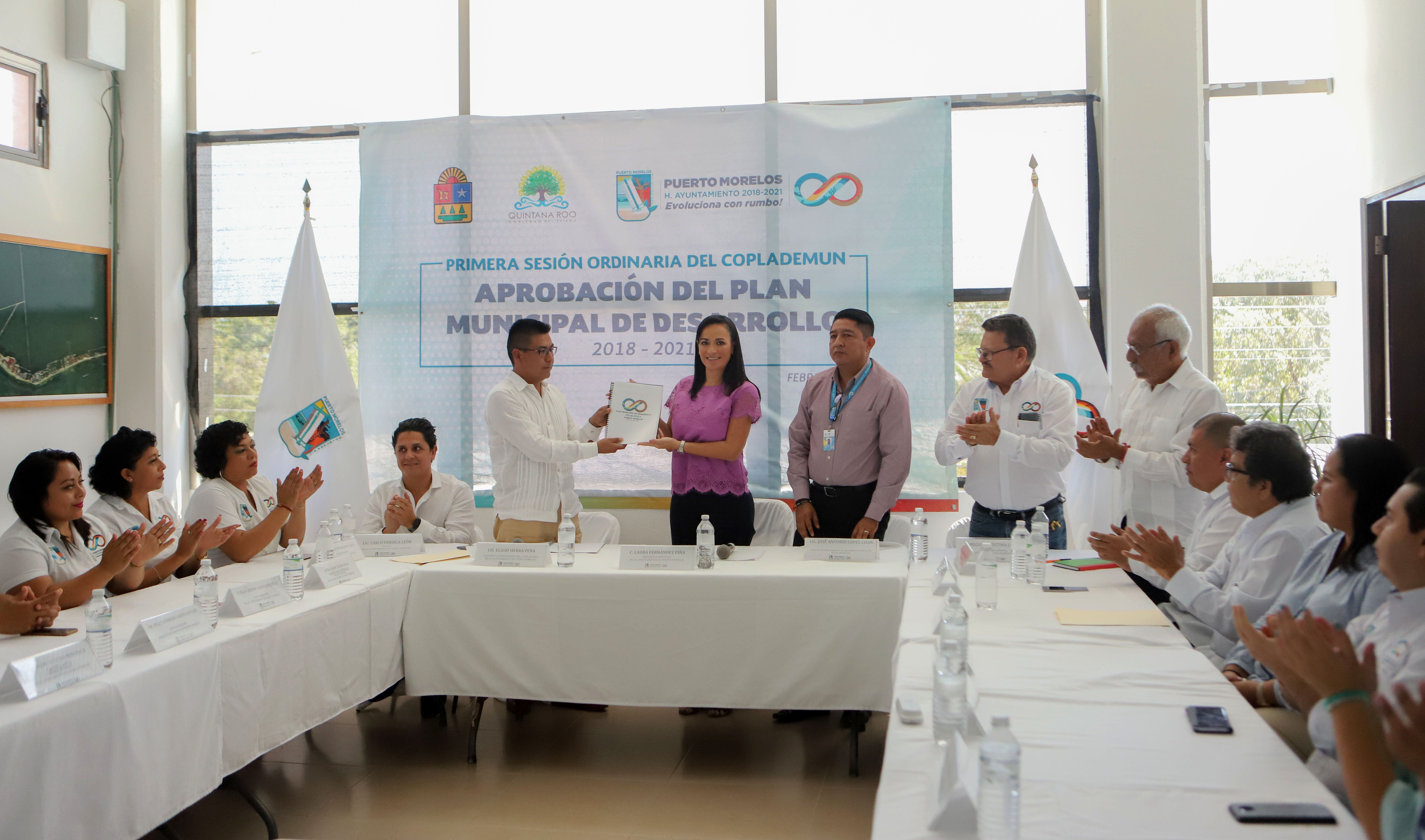 Aprueban Plan Municipal de Desarrollo 2018-2021 de Puerto Morelos