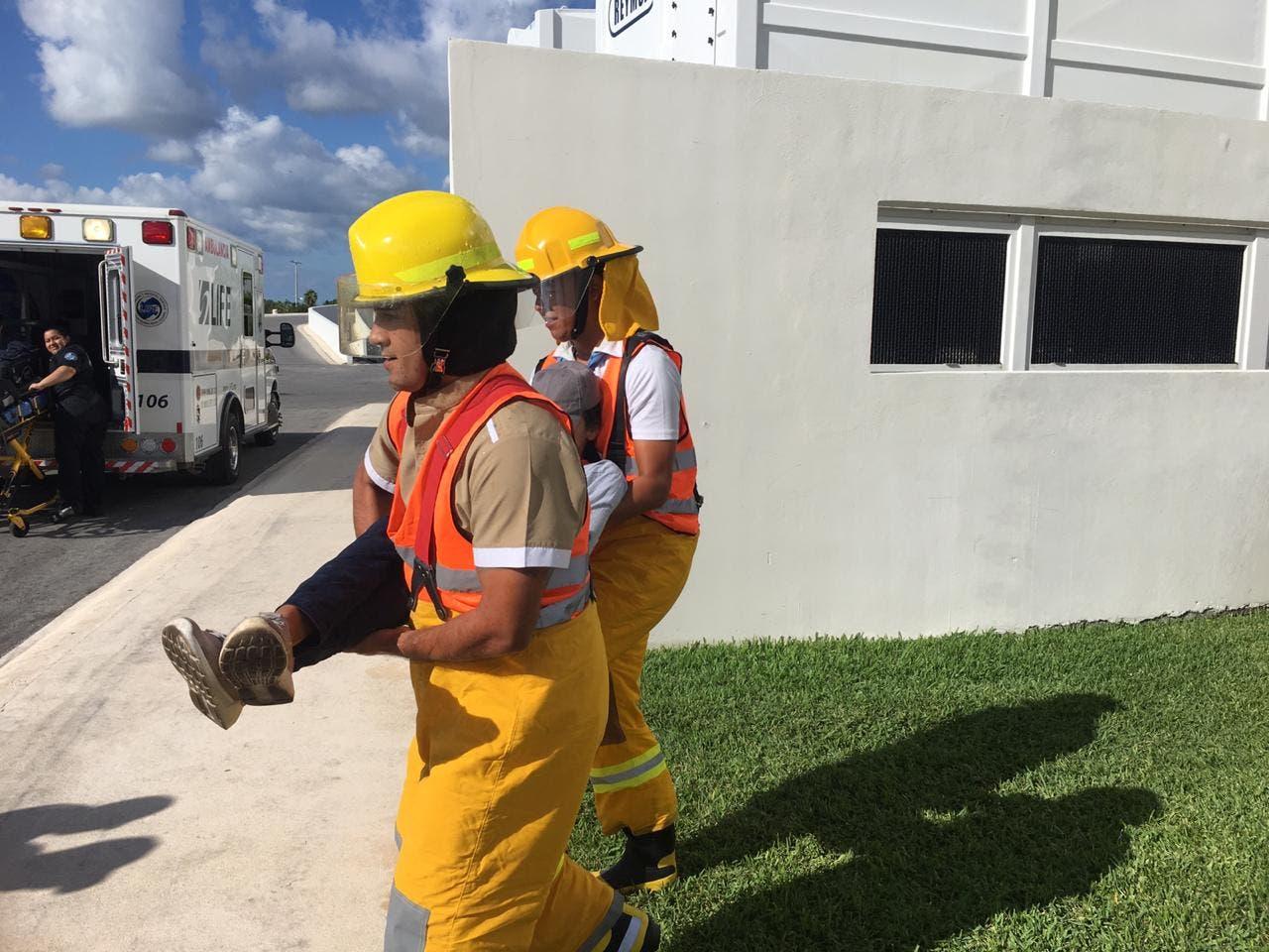 Isla Mujeres realiza simulacro de incendio y evacuación.