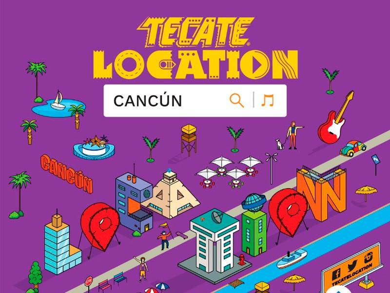 """Cartel """"Tecate Location Cancún 2019"""""""