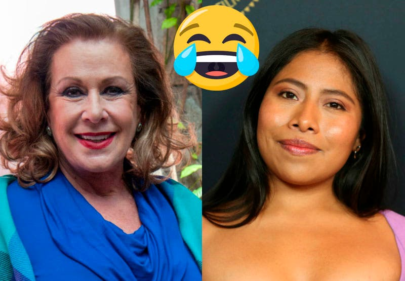 """Vídeo: Laura Zapata: """"La suerte de las feas"""" le dice de broma a Yalitza Aparicio"""