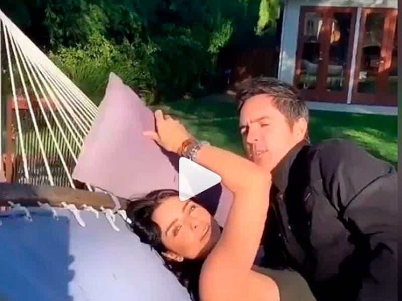 Vídeo: Aislinn Derbez y Mauricio Ochmann los cachan en arrumaco frente a su bebé