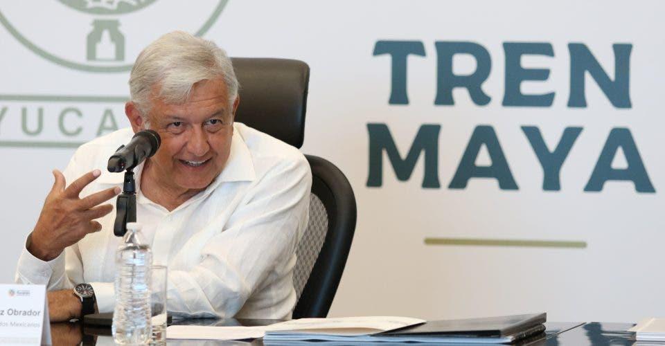 """AMLO: """"La licitación del Tren Maya saldrá el próximo mes"""""""