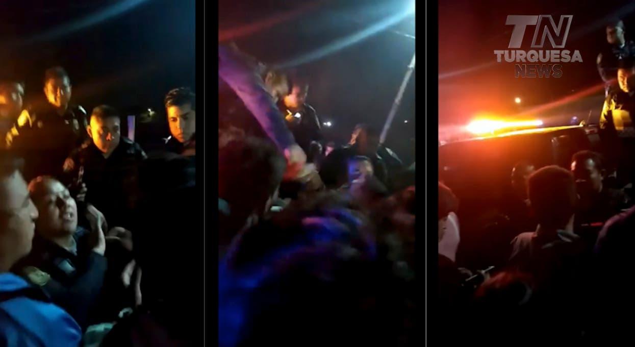 VÍDEO: Policías impiden linchamiento de un hombre acusado de violación