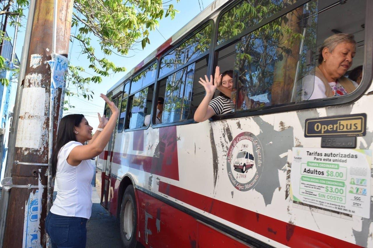 Disminuyen las tarifas del transporte público en Yucatán