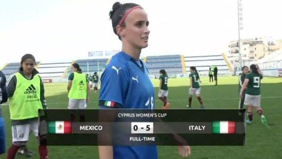 Copa Chipre: Italia golea a México Femenil en debut