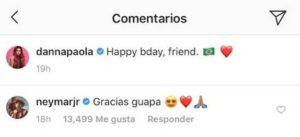 Cachan a Danna Paola en cumpleaños de Neymar