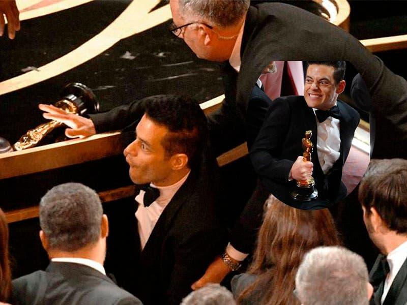 Vídeo: Rami Malek se cae como Juan Gabriel luego de los Premios Oscars 2019