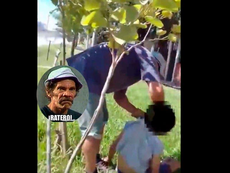 Vídeo: Agarran a niño ratero y hombre lo golpea en la cara