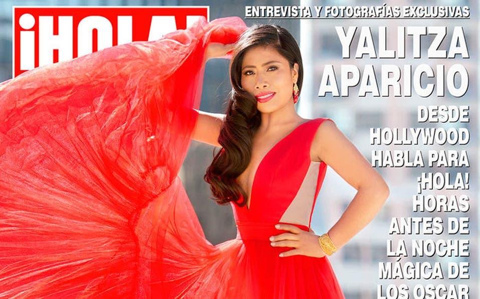 Foto: Yalitza Aparicio luce espectacular en portada de revista Hola con vestido rojo