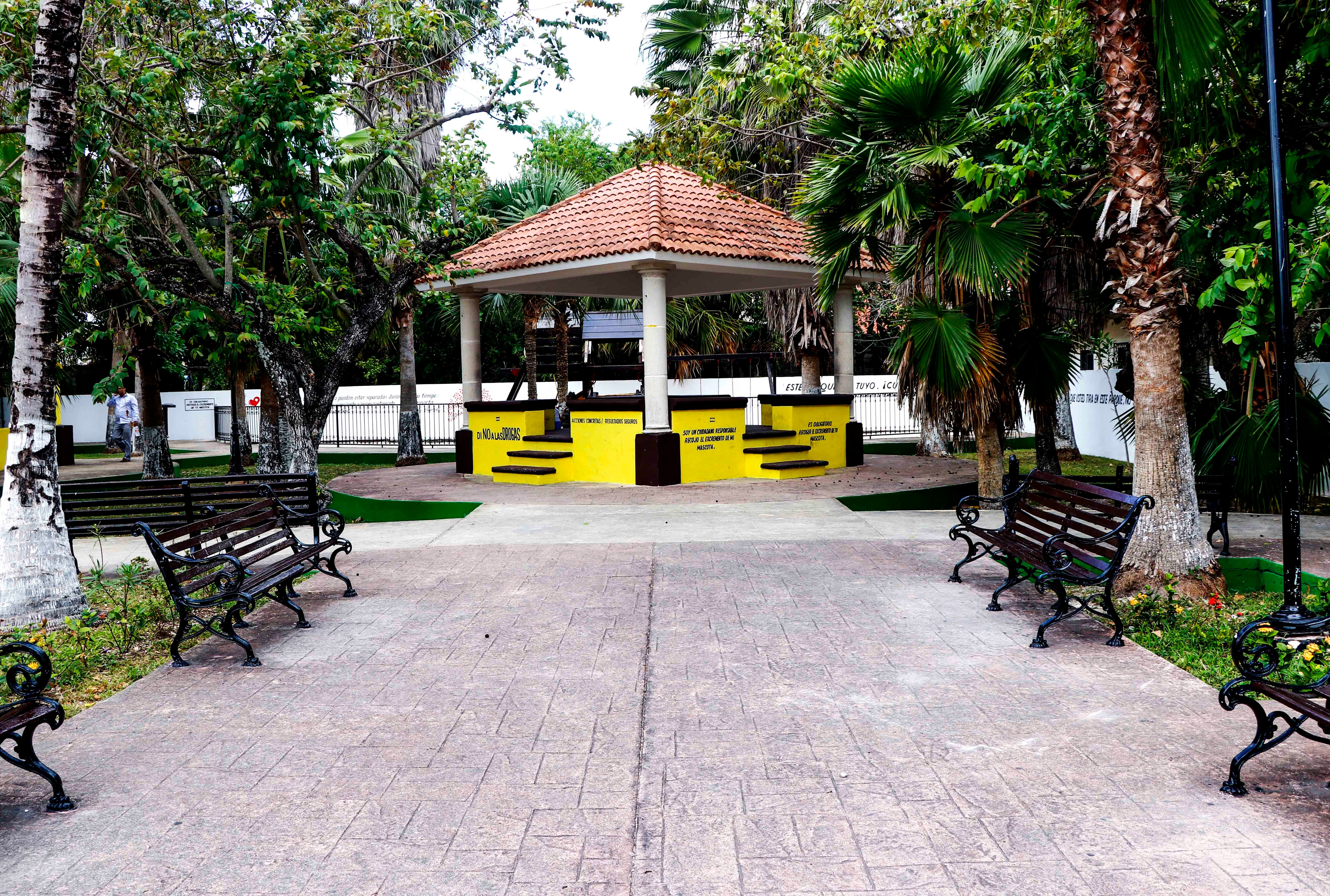 Mejora Pedro Joaquín imagen de parques en Cozumel