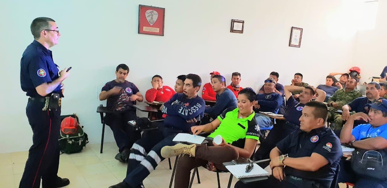Curso de Formación de Especialistas en Búsqueda y Rescate Nivel 2 en el que participaron 57 personas.