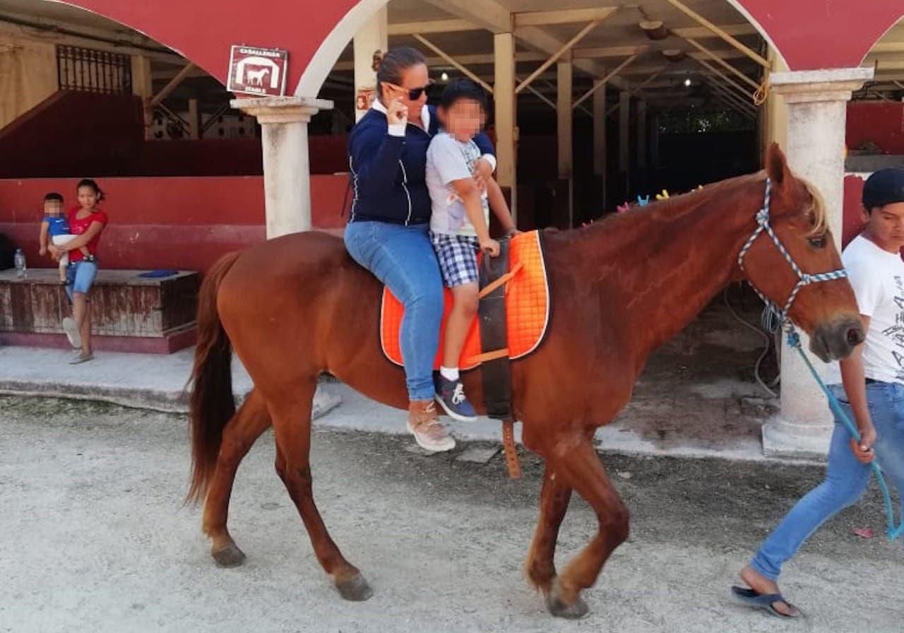 DIF de Cancún implementa programa de equinoterapia
