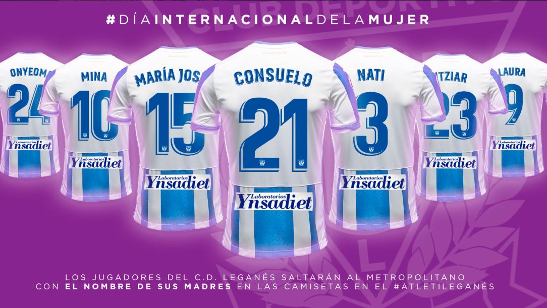 El Leganés celebrará el Día Internacional de la Mujer, con homenaje a mamás de jugadores