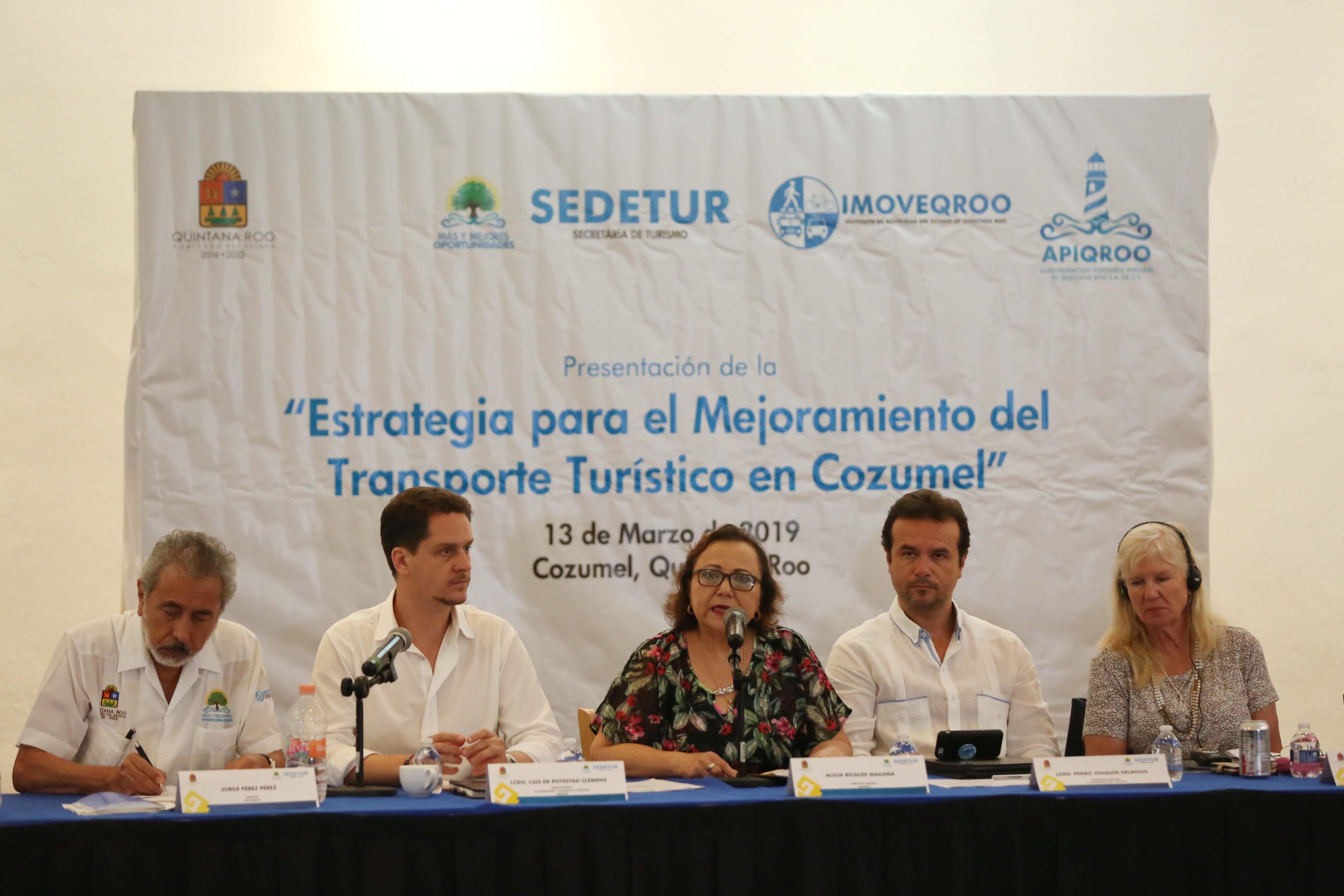 Implementarán estrategia para mejor el transporte turístico de Cozumel
