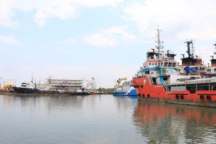 Puerto marítimo de Dos Bocas.