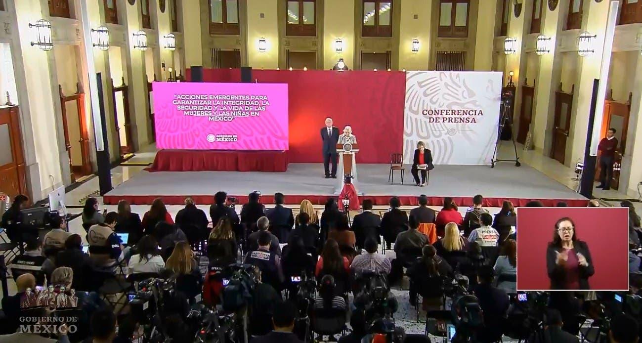 Anuncia Gobierno de AMLO plan contra la violencia a la mujer