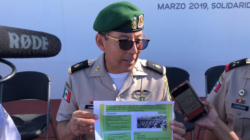 Bernabé Bernardo Chablé, comandante de la décima brigada de la policía militar