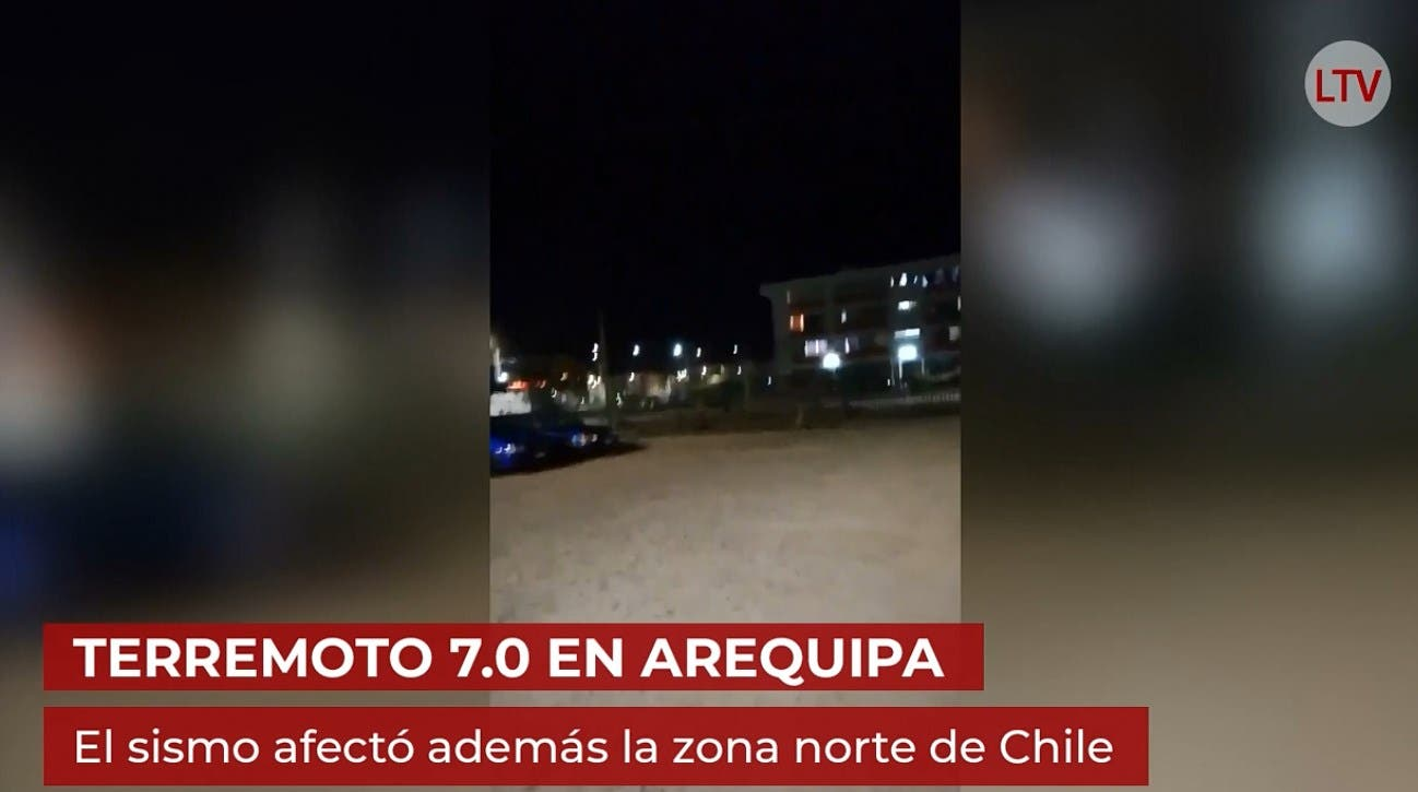 Terremoto en Sudamérica se siente en 3 países: Perú, Chile y Bolivia