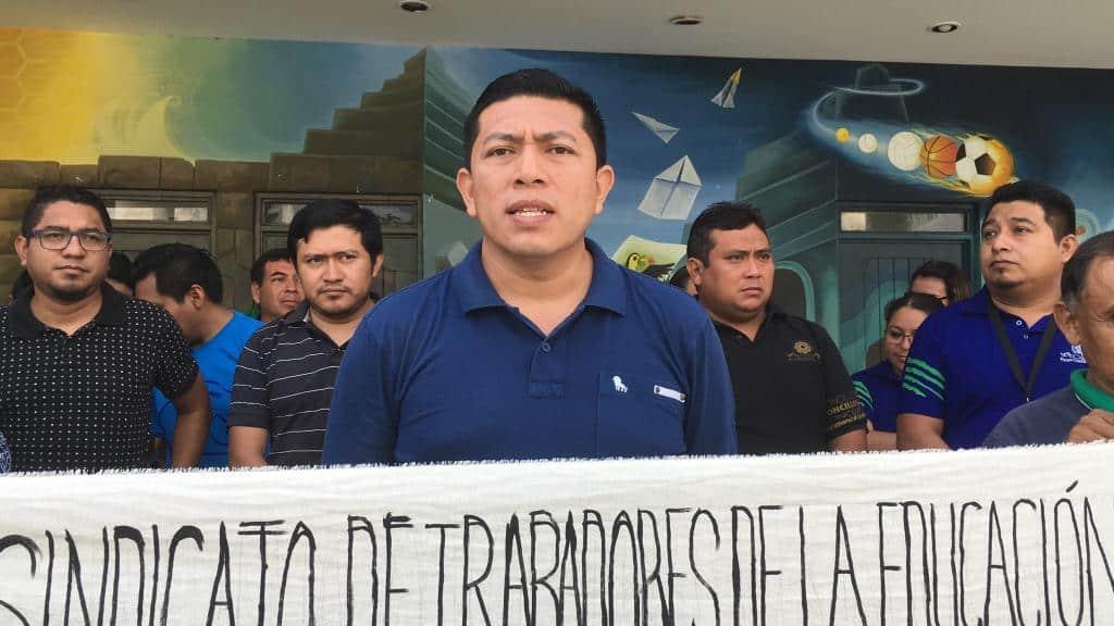 Protestan trabajadores sindicalizados del Tecnológico de Carrillo Puerto