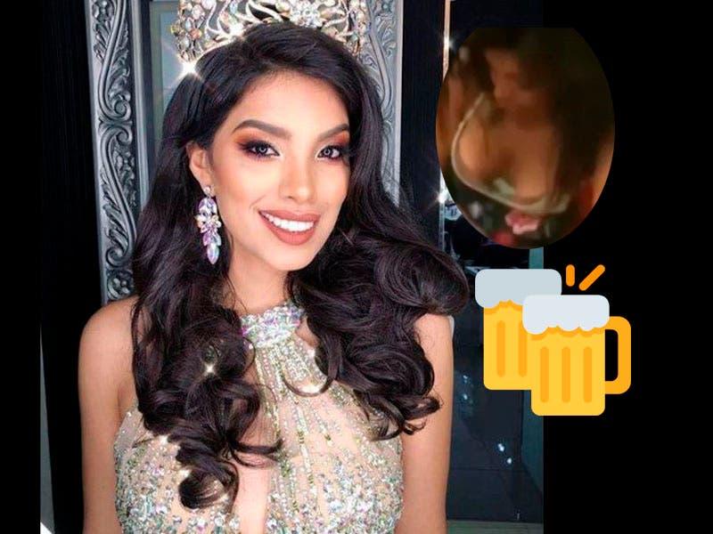 Vídeo: Miss Perú la graban borracha y le quitan la corona