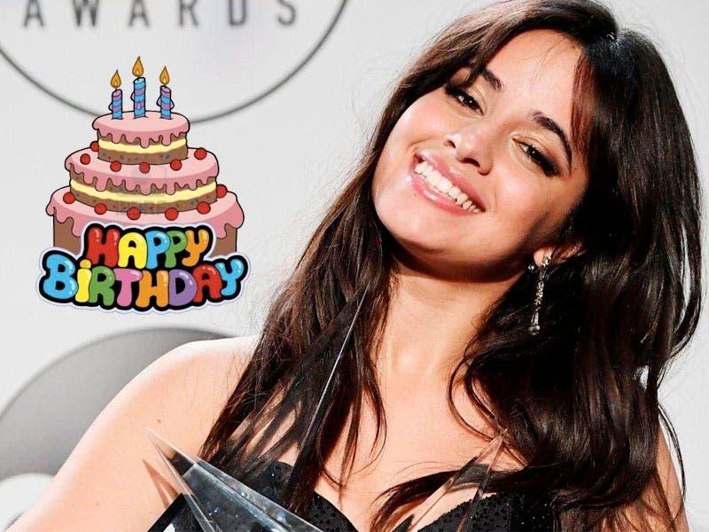 ¡Sorpresa! Camila Cabello celebra su cumpleaños 22 y sus fans le mandan felicitaciones