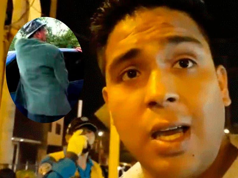 Vídeo: ¡Qué cochino! Sujeto le da golpiza a joven porque orina en su carro