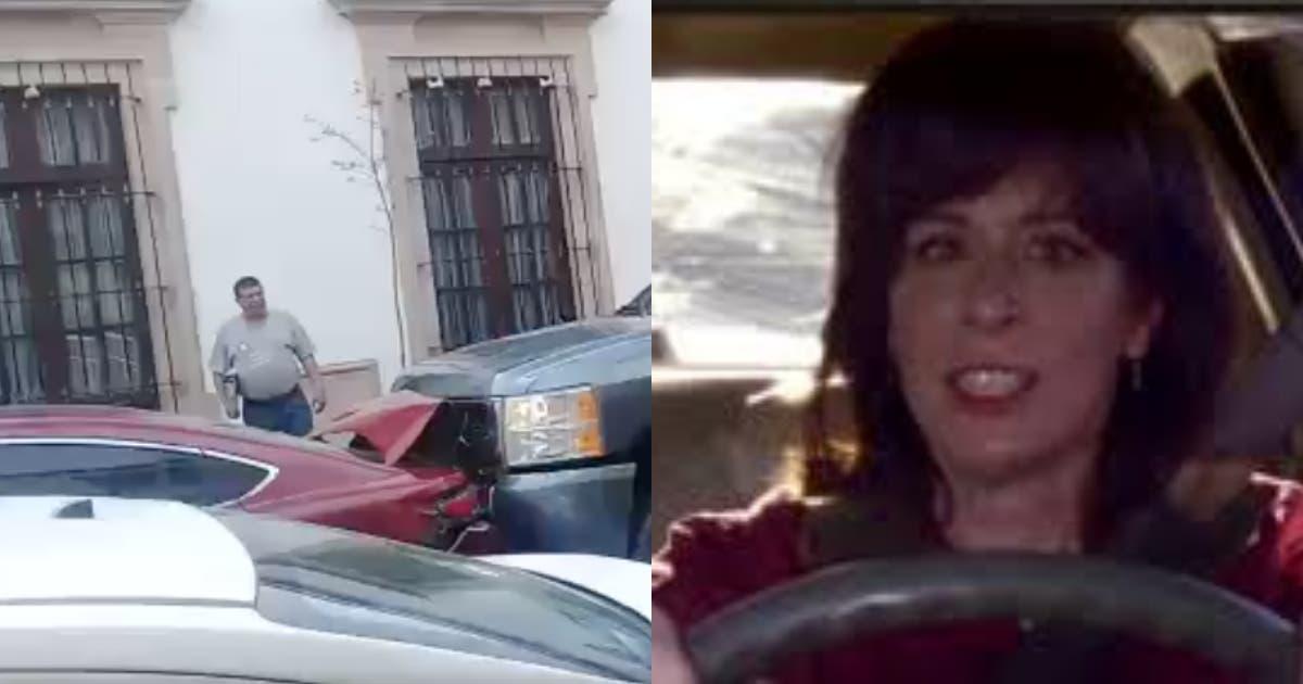 Vídeo: Mujer choca dos veces su camioneta y ahora la bautizan #LadyCheyenne