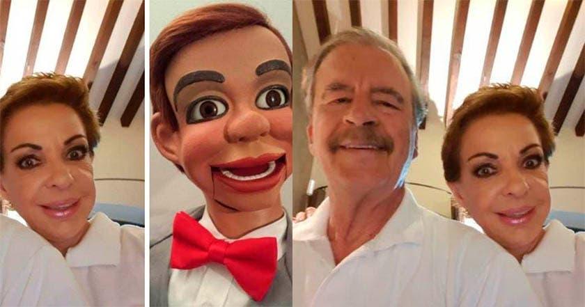 Foto: Le hacen meme a la esposa de Vicente Fox, Martha Sahagún luego de tomarse una selfie
