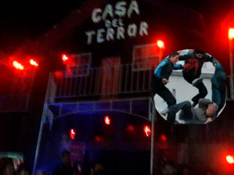 """¡Se armó la gorda! Familia recibe golpiza de empleados de la """"Casa del Terror""""."""