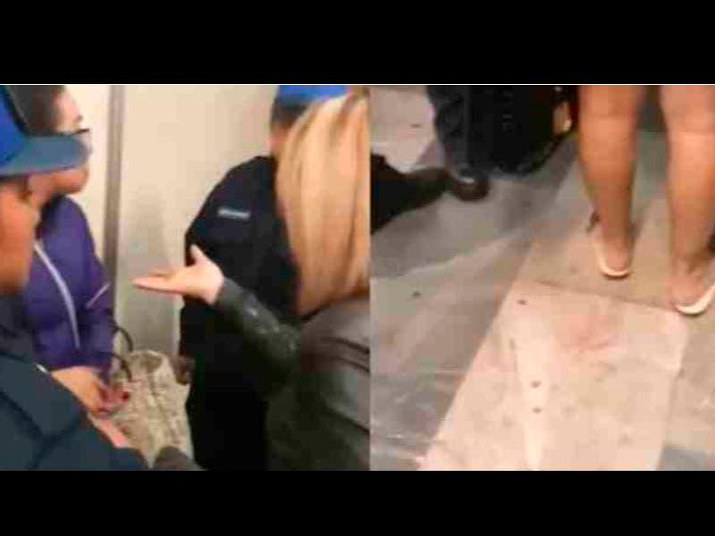 Vídeo: Mujer le pisan el pie en el metro y la bautizan #LadyChanclas