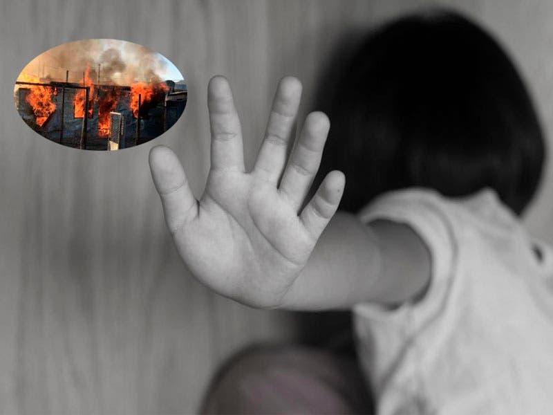 Sujeto abusa de un niño, le queman la casa y matan a su papá