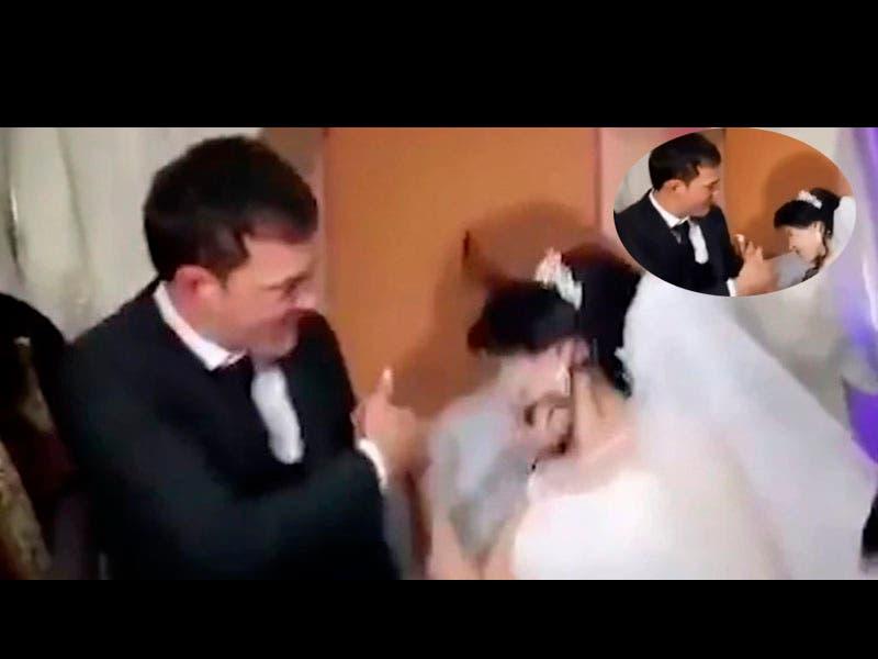 Vídeo: Novio cachetea a su novia recién casados y en plena fiesta de la boda