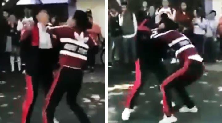 Vídeo: Dos alumnas se agarran a golpes en una escuela secundaria y acaba en balacera