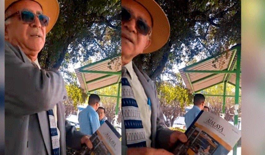 "Vídeo: Trolean a señor, ""Testigo de Jehová"" en la calle por un joven satánico"