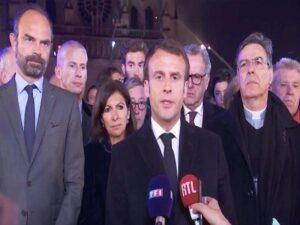 Emmanuel Macron Reconstruirán la Catedral de Notre- Dame