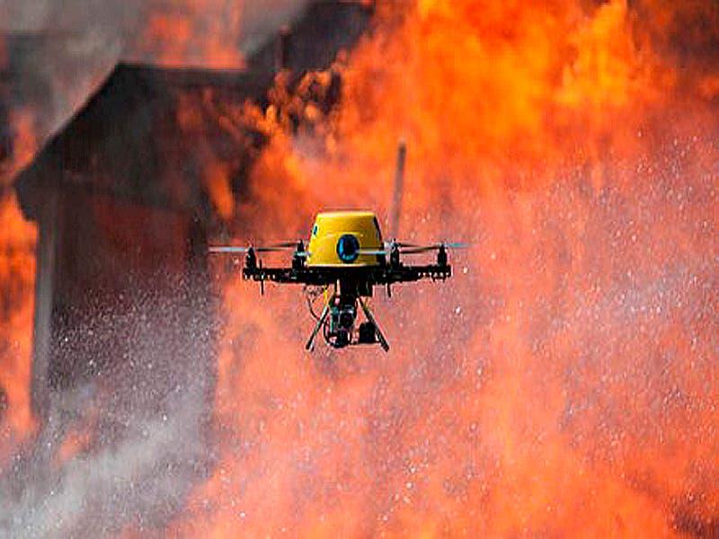 Realizan sobrevuelos y uso del dron para hacerle frente a los incendios