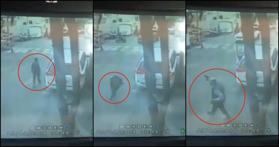 Huye ladrón de víctima al ver que saca su propia arma en CDMX