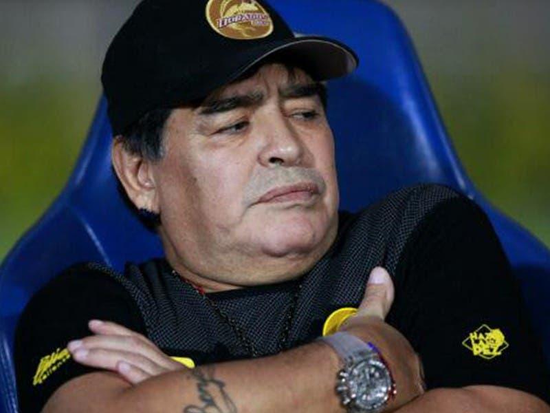 Ascenso MX: Diego Armando Maradona presentará renuncia como DT de Dorados
