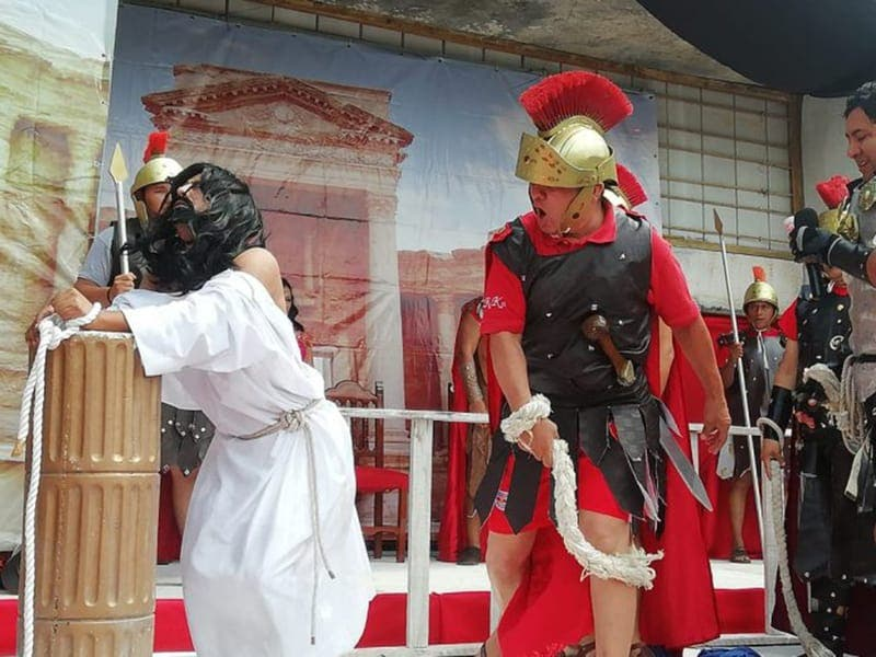 Inicia el Calvario de Cristo en el Parque de las Palapas
