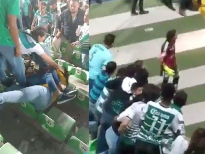 La violencia se hace presente durante Semifinal entre Santos y Tigres