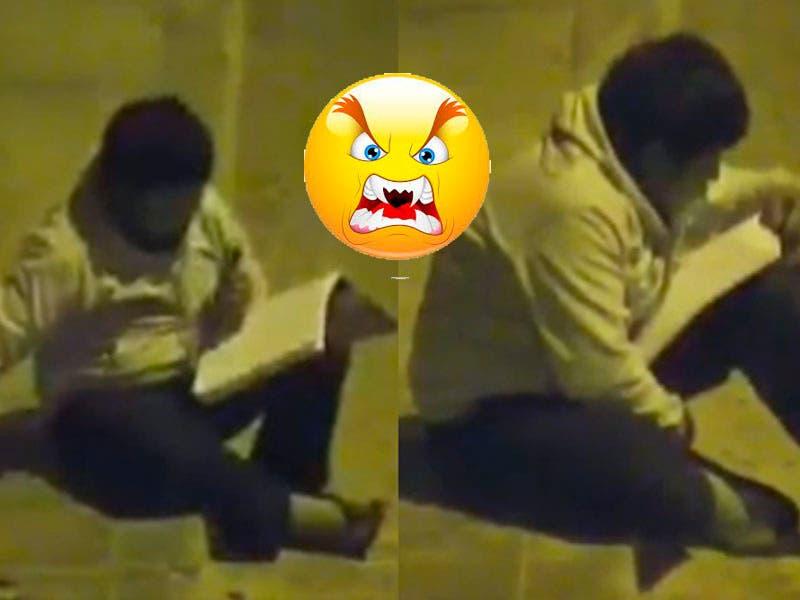 Vídeo: Niño hace la tarea en la calle porque en su casa no tiene luz