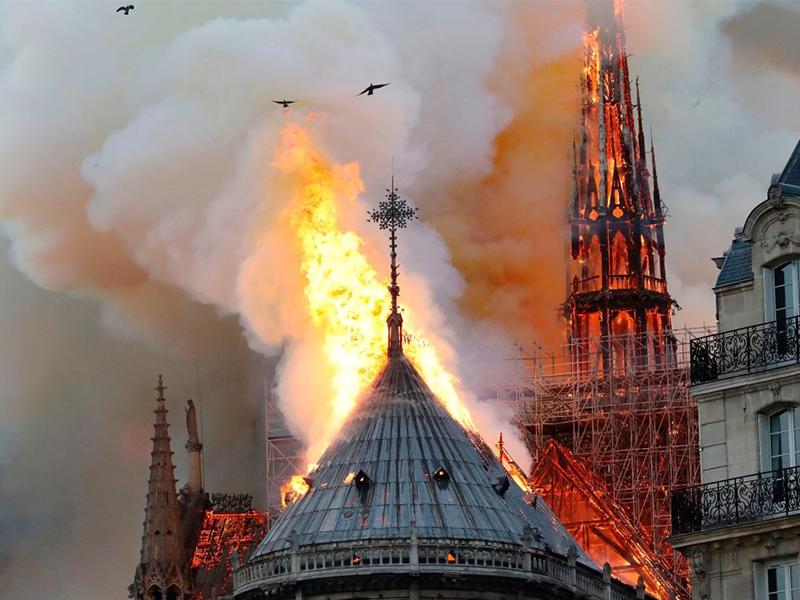 Así reaccionaron los famosos al incendio de la Catedral de Notre Dame