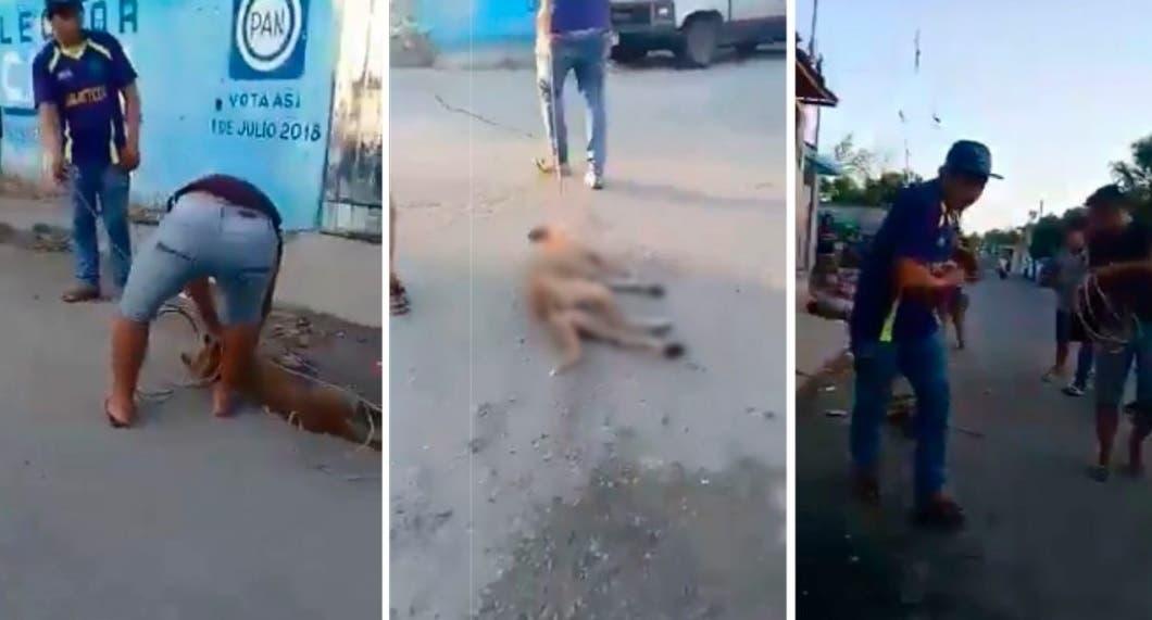 VÍDEO: Sujetos asesinan a un perro ahorcándolo y arrastrándolo en Yucatán