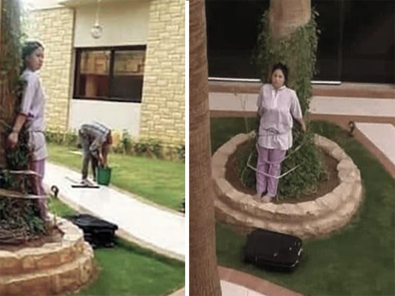 Empleada doméstica sufre castigo por cometer un error