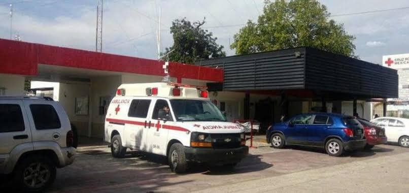 La persona que fue baleada se traslado hasta la Cruz Roja