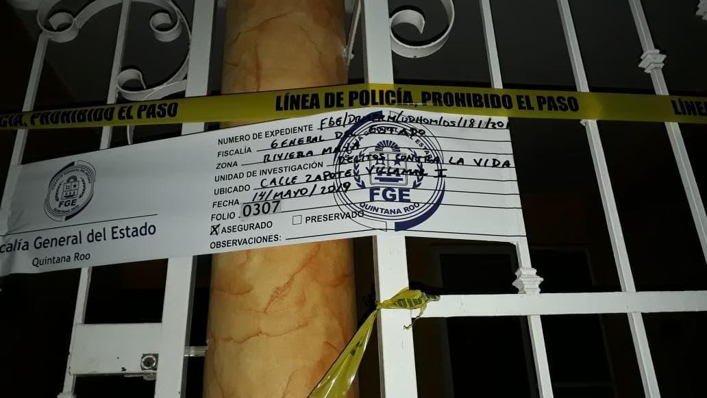 Domicilio que fue cateado en Playa del Carmen.