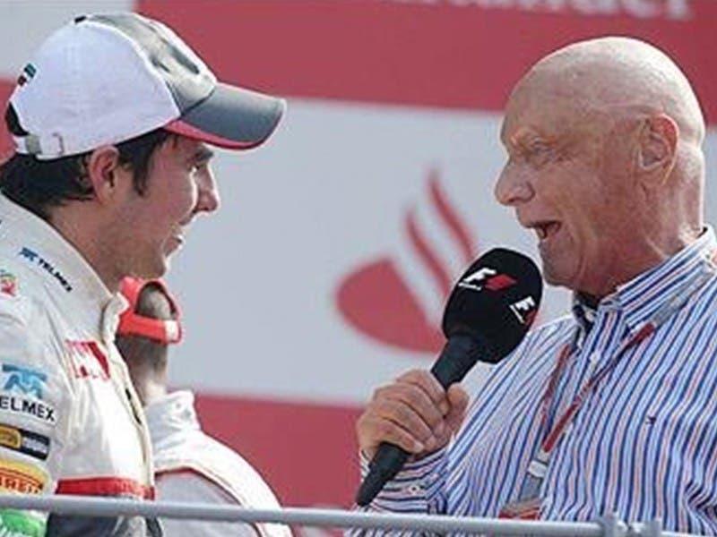 F1: Sergio 'Checo' Pérez se despide de Niki Lauda