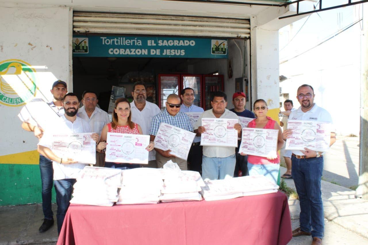 90 mil papeles para envoltura de tortilla en las ciudades de Chetumal, Playa del Carmen y Cancún