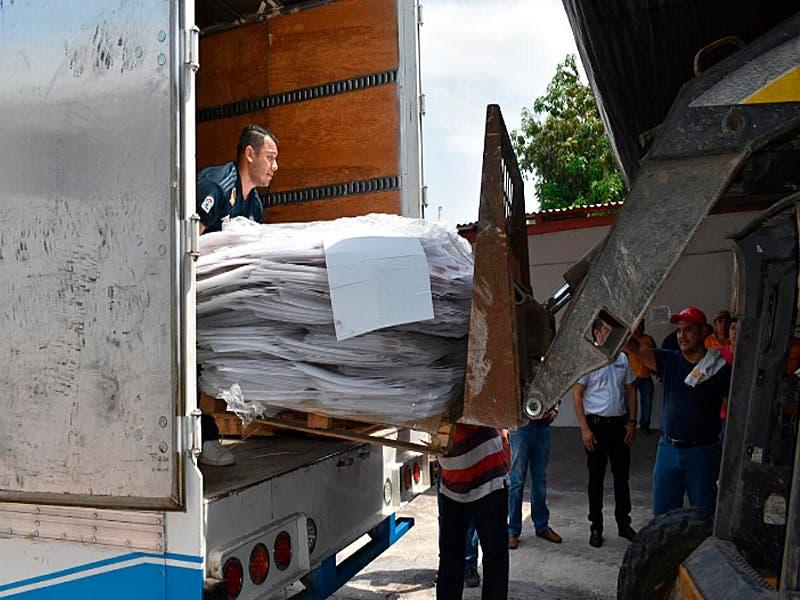Llegan boletas y material electoral para las votaciones del 2 de junio